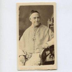 Fotografía antigua: OBISPO O RELIGIOSO POR IDENTIFICAR, FOTO: NAPOLEON, BARCELONA. CDV. Lote 288952498