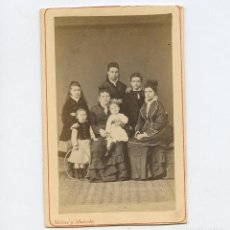 Fotografía antigua: EULALIA SERRALLACH E HIJOS, FOTO: MOLINÉ Y ALBAREDA, BARCELONA . CDV. Lote 288953198