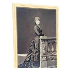 Fotografía antigua: TARJETA DE VISITA FOTOGRÁFICA. A. RODRÍGUEZ. SEVILLA. CA. 1890. CALLE SIERPES 14. PROVINIENTE DE LA. Lote 289262358