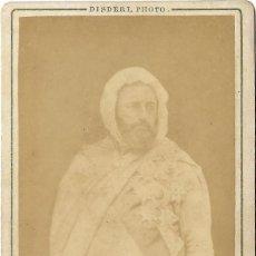 Fotografía antigua: 1865-70CA FOTOGRAFÍA EMIR ABDEL KADER CARTE DE VISITE ALBUMINA CDV DISDERI. Lote 294119163