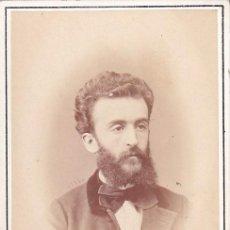 Fotografía antigua: ALBUMINA CDV CABALLERO. E. OTERO FOTÓGRAFO CARRERA SAN JERÓNIMO 16 MADRID. Lote 295331343