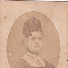 Fotografía antigua: ALBUMINA CDV DAMA J. SANCHEZ PINTOR FOTÓGRAFO MADRID. Lote 295337183