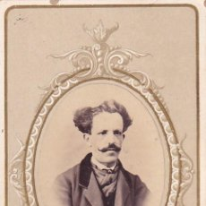 Fotografía antigua: CDV JOSÉ GUTIÉRREZ DE LA VEGA Y MONCLOA FIRMA Y DEDICATORIA PERIODISTA Y POLÍTICO.1866. Lote 295434393