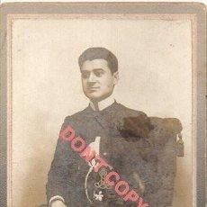 Fotografía antigua: ANTIGUA CDV DE UN ESTUDIANTE PORTUGUES, FOT.UNIAO, COIMBRA, 68X108MM. Lote 295452088