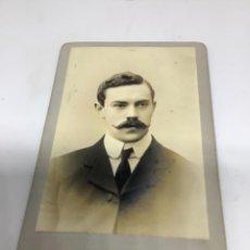 Fotografía antigua: CARTE DE VISITE. CDV (6,5X10,5 CM) DRINKWATER PHOTO. BIRMINGHAM. H 1905. Lote 296736953