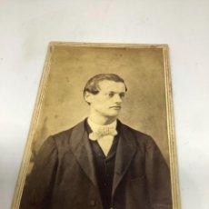 Fotografía antigua: CARTE DE VISITE SEÑOR CDV (6,5X10,5 CM) . MOSES & SONS. NEW ORLEANS. FIRMADA 1863. Lote 296737423
