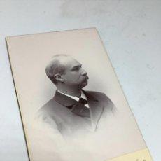 Fotografía antigua: CARTE DE VISITE SEÑOR CDV (6,5X10,5 CM) . PHOTO ANNA EDLUND. STOCKHOLM H 1900.. Lote 296737913