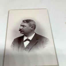 Fotografía antigua: CARTE DE VISITE SEÑOR CDV (6,5X10,5 CM) . PHOTO LUNDMARK. UMEA SUECIA H. 1890. Lote 296738113