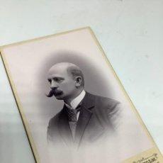 Fotografía antigua: CARTE DE VISITE SEÑOR CDV (6,5X10,5 CM) . PHOTO DAHLLOF. STOCKHOLM FIRMADA 1895. SUECIA H. 1890. Lote 296738293