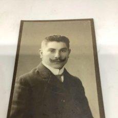 Fotografía antigua: CARTE DE VISITE SEÑOR CDV (6,5X10,5 CM) . HAMMERSCHLAG DORTMUND 1890. Lote 296738668
