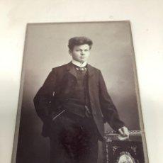 Fotografía antigua: CARTE DE VISITE SEÑOR CDV (6,5X10,5 CM) . H HAHN LUBECK H 1890. Lote 296738773