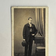 Fotografía antigua: ANTONIO GARCÍA Y JOAQUIN SOROLLA UNA RELACIÓN ARTÍSTICA Y FAMILIAR FOTOGRAFÍA J. COMES CDV (H.1890?). Lote 296918043