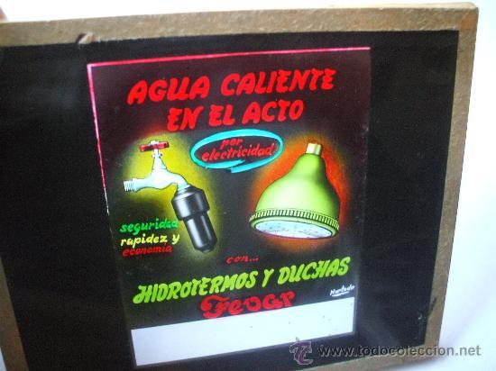 DIAPOSITIVAS VIDRIO - PUBLICIDAD - AÑOS 60 (Fotografía Antigua - Diapositivas)