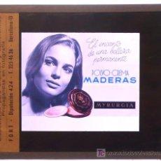 Fotografía antigua: MYRURGIA, PUBLICIDAD. 12 DIAPOSITIVAS DE ANUNCIOS, 1950'S-60'S. TAMAÑO DE CADA PLACA: 10X8 CM.. Lote 20670981