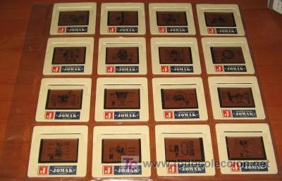 16 DIAPOSITIVAS DE SISTEMA DE DIBUJO JOMAK (Fotografía Antigua - Diapositivas)
