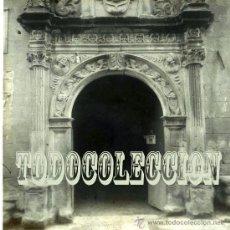 Fotografía antigua: + UNCASTILLO AYUNTAMIENTO ANTIGUO POSITIVO EN CELULOIDE HACIA 1920 ZARAGOZA. Lote 25690729