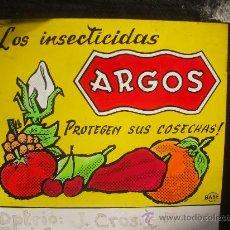 Fotografía antigua: PUBLICIDAD - INSECTICIDA ARGOS - DIAPOSITIVAS DE VIDRIO . Lote 27442097