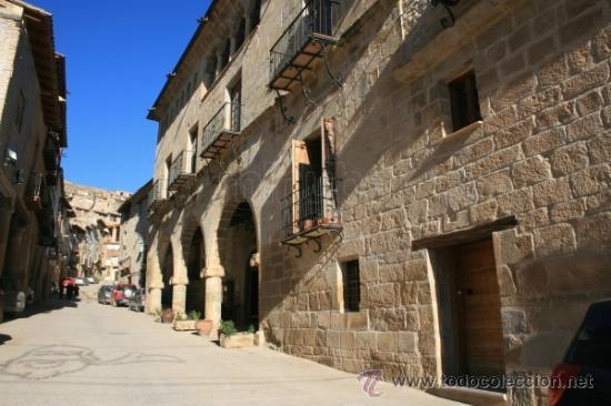 Fotografía antigua: La Fresneda Teruel. Casa de la Encomienda. Antiguo positivo en Celuloide. Hacia 1920. Aragón - Foto 2 - 27289568