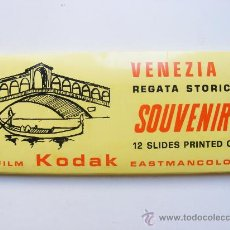 Fotografía antigua: DIAPOSITIVAS, SOUVENIR VENEZIA 7, KODAK, EASTMANCOLOR, BORGONI ED. Lote 27661907