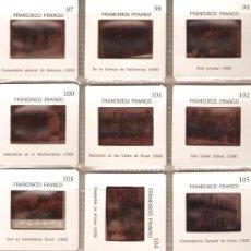 Fotografía antigua: SERIE DE 12 DIAPOSITIVAS DE FRANCO, EDITADAS POR EL MINISTERIO DE EDUCACION Y CIENCIA. Lote 30346258