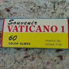 Fotografía antigua: SOUVENIR VATICANO COLECCION:60 DIAPOSITIVAS(PRINTED ON KODAK FILM). Lote 34350290