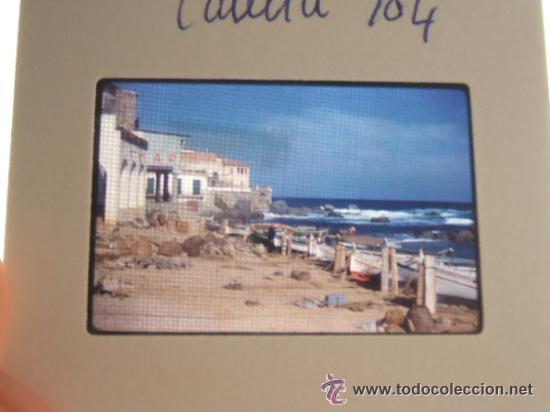 CALELLA GERONA LOTE 6 DIAPOSITIVAS KODAK AÑOS 60 REALIZADAS POR TURISTA INGLES (Fotografía Antigua - Diapositivas)