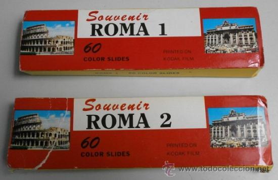 DIAPOSITIVAS DE ROMA (Fotografía Antigua - Diapositivas)