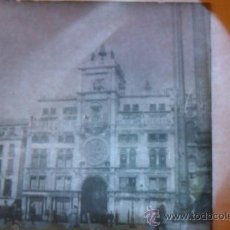 Fotografía antigua: ANTIGUA TRANSPARENCIAS PLACA PARA LINTERNA MÁGICA CIUDAD EDIFICIO FOTOGRAFÍA CRISTAL DIAPOSITIVA. Lote 35848276