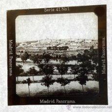 Fotografía antigua: DIAPOSITIVA DE CRISTAL MADRID PANORÁMICA. SERIE 41 NO 1. Lote 36112145