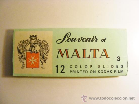 MALTA SOUVENIR 3, 12 DIAPOSITIVAS, KODAK (Fotografía Antigua - Diapositivas)