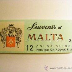 Fotografía antigua: MALTA SOUVENIR 3, 12 DIAPOSITIVAS, KODAK. Lote 36119776