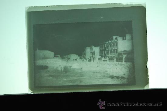 PLACA FOTOGRAFICA ORIGINAL CRISTAL CARGA DE LA NARANJA PLAYA GRAO DE CASTELLON TAMAÑO 6X9A (Fotografía Antigua - Diapositivas)