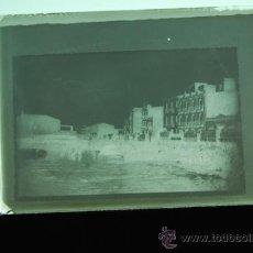 Fotografía antigua: PLACA FOTOGRAFICA ORIGINAL CRISTAL CARGA DE LA NARANJA PLAYA GRAO DE CASTELLON TAMAÑO 6X9A. Lote 36418106