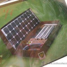 Fotografía antigua: 4 DIAPOSITIVAS DE 13 X 18 CMS CON EL KIT DE PLACAS SOLARES BP - AÑOS 80. Lote 39042975