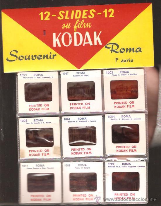 12 DIAPOSITIVAS * ROMA * (Fotografía Antigua - Diapositivas)
