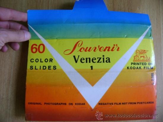 Fotografía antigua: Lote souvenir 60 diapositivas Vaticano + Roma + Venezia Venecia. Kodak film - Foto 8 - 39202104