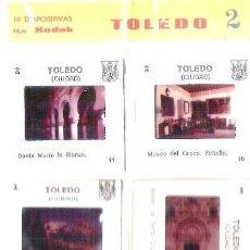 Fotografía antigua: LOTE DE 10 DIAPOSITIVAS DE TOLEDO. AÑOS 70. Lote 39664584
