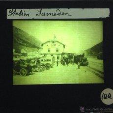 Fotografía antigua: LOTE DE 18 FOTOGRAFÍAS EN CRISTAL POSITIVO. FERROCARRILES. SUIZA. 8,5 X 10 CM.. Lote 40197406