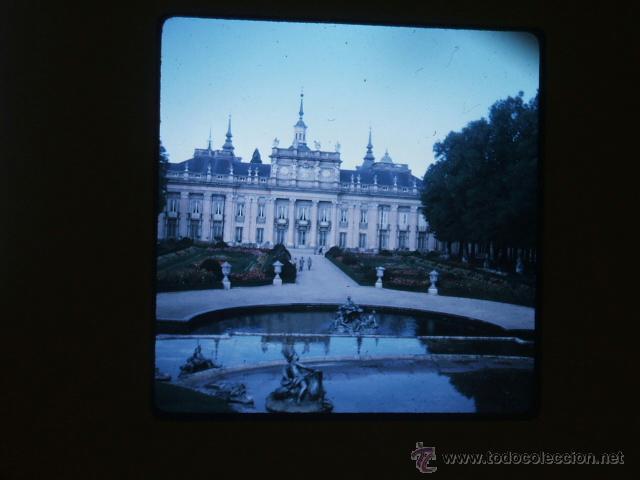 LA GRANJA DE SAN ILDEFONSO SEGOVIA ANTIGUA DIAPOSITIVA KODAK POR VIAJERO AMERICANO (Fotografía Antigua - Diapositivas)