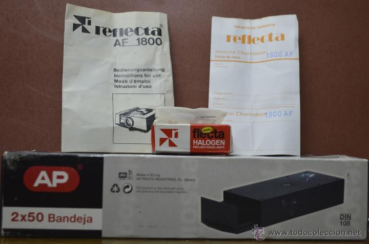 Fotografía antigua: Proyector diapositivas Agfa reflecta 1800 AF. objetivo 2.8/90mm MC - Foto 2 - 42831443