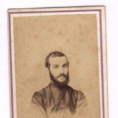 Fotografía antigua: RETRAATO CDV DE PERSONAJE, FOTO: J NAL Y CIA. CÁDIZ. FOTOGRAFÍA FRANCESA Y ESPAÑOLA, 1860'S.. Lote 44172587
