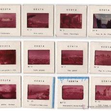 Fotografía antigua: CEUTA. 12 DIAPOSITIVAS AÑOS 1950 - 1970.. Lote 45056488