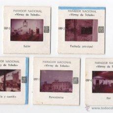Fotografía antigua: 5 DIAPOSITIVAS PARADOR NACIONAL 'VIRREY DE TOLEDO' OROPESA, TOLEDO.. Lote 45057040