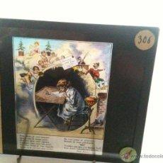 Fotografía antigua: SERIE 4 CRISTALES PARA LINTERNA MÁGICA DE LA MAISON DE LA BONNE PRESE. Lote 45705475