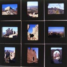 Fotografía antigua: 12 DIAPOSITIVAS KODACHROME DEL CASTILLO DE PALAFOLLS (GIRONA) FOTOGRAFIAS DEL 1973. Lote 45866929
