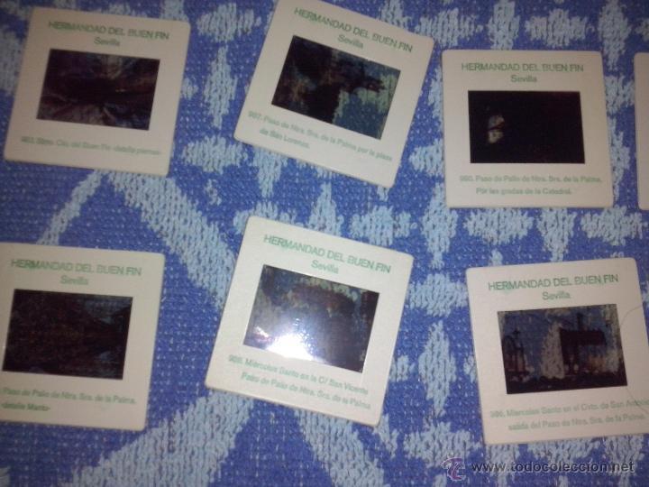 10 DIAPOSITIVAS HERMANDAD DEL BUEN FIN SEVILLA (Fotografía Antigua - Diapositivas)