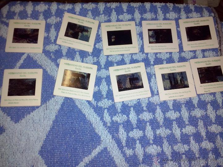 Fotografía antigua: 10 diapositivas hermandad del buen fin sevilla - Foto 2 - 45930704
