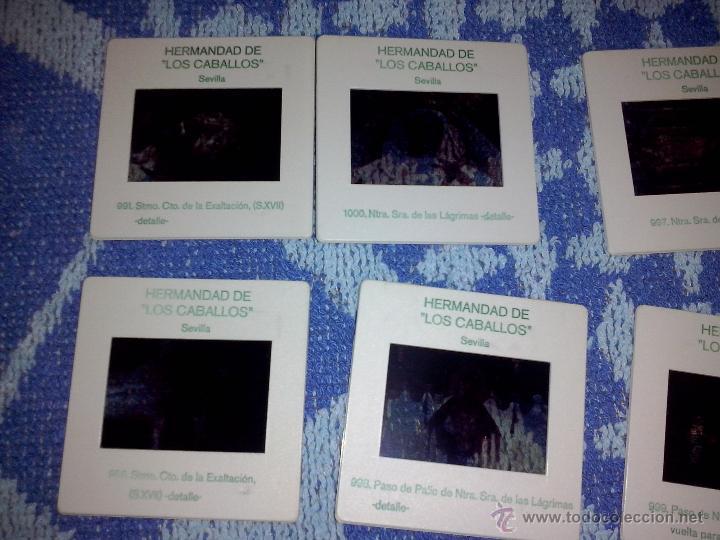 10 DIAPOSITIVAS HERMANDAD DE LOS CABALLOS (Fotografía Antigua - Diapositivas)