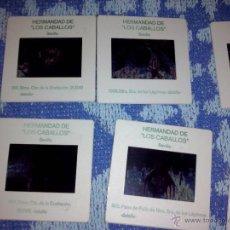 Fotografía antigua: 10 DIAPOSITIVAS HERMANDAD DE LOS CABALLOS. Lote 45930824