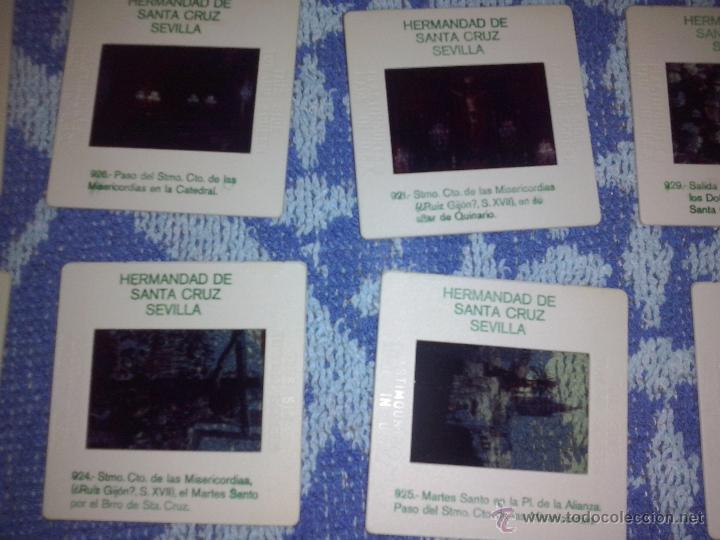 Fotografía antigua: 10 diapositivas hermandad de santa cruz sevilla - Foto 2 - 45931105
